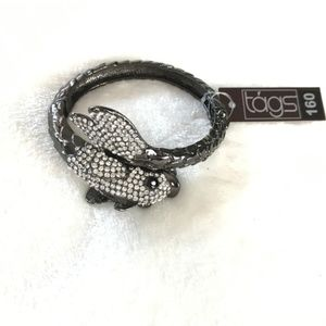 TAGS 160 Rhinestone Fish New With Tags Bracelet